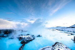 The famous blue lagoon near Reykjavik, Iceland Royalty Free Stock Images
