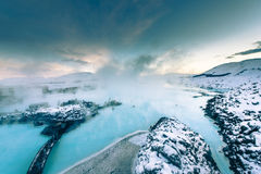 The famous blue lagoon near Reykjavik, Iceland Royalty Free Stock Image