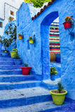 Famous blue medina in Chefchaouen, Morocco. Royalty Free Stock Image