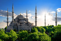 Famous Blue Mosque Stock Photos