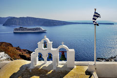 The famous blue and white city Oia,Santorini Royalty Free Stock Photos
