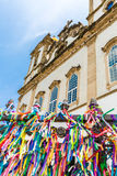 The famous Bonfim church in Bahia, Brazil stock photo