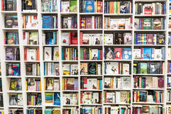 Famous Books For Sale On Library Shelf Stock Image