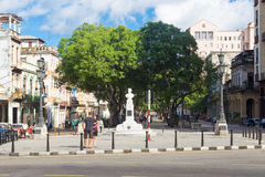 The famous boulevard of El Prado in Havana Royalty Free Stock Photos