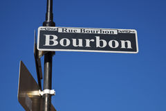 Famous Bourbon Street. Historic district of New Orleans Royalty Free Stock Photos