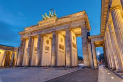 The famous Brandenburg Tor in Berlin Stock Photography