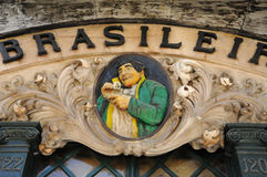 Famous Brasileira cafe in Lisbon Royalty Free Stock Photography