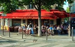 The famous brasserie de l `Ile Saint Louis, Paris, France. Paris, France-October 16, 2016 : The famous brasserie de l `Ile Saint Louis located near Notre Dame Stock Photos