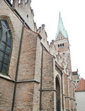 Famous brick gothic church in augsburg Royalty Free Stock Photo