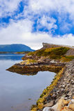 Famous bridge on the Atlantic road in Norway Stock Photography