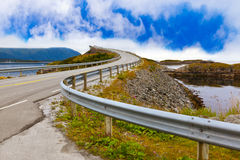 Famous bridge on the Atlantic road in Norway Stock Image