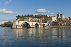 The Famous Bridge at Avignon, France. The famous Pont d'Avignon in France Royalty Free Stock Photography