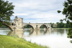 Famous bridge in Avignon, France Stock Photography