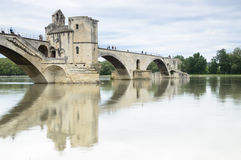 Famous bridge in Avignon, France Royalty Free Stock Photos