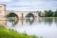 Famous bridge in Avignon Stock Photos
