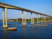 Famous bridge connecting Vindeby and Svendborg on the island Funen. (Fyn) in Denmark travel Scandinavia image Royalty Free Stock Image