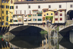 Famous bridge in Florence city Royalty Free Stock Images