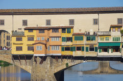 Famous bridge in Florence city Stock Image