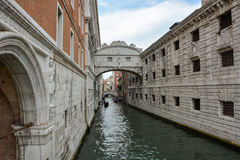The famous bridge if sighs in Venice, Italy Royalty Free Stock Photography