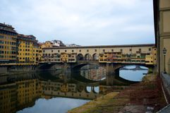 Famous bridge in Italy Royalty Free Stock Photo