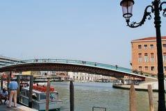 Calatrava bridge. Famous bridge made by Spanish architect Santiago Calatrava - Venice, Veneto, Italy Stock Photography