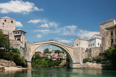 The famous bridge in Mostar, Bosnia Royalty Free Stock Photography