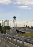 Famous Bridge Novi Most from Bratislava in Slovakia Royalty Free Stock Photo