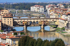 Famous bridge Ponte Vecchio Stock Photo