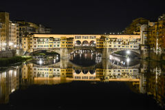 Famous bridge of Ponte Vecchio in Florence on Italy. Stock Images