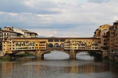 Famous bridge Ponte Vecchio over river Arno. Florence, Italy Stock Photo