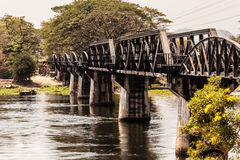 Famous Bridge on the river kwai Stock Image