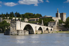 Famous bridge Saint-Benezet at Avignon Royalty Free Stock Photos