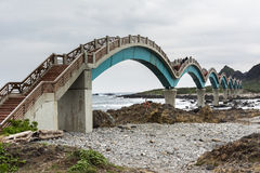 Famous bridge at Sanxiantai Stock Photos