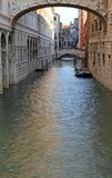 Famous bridge of sighs and the prisons of Venice Stock Photo