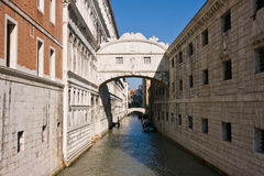 The famous bridge of Sighs in Venice Royalty Free Stock Images