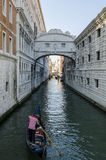 The famous Bridge of Sighs Stock Photography