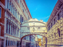 The famous Bridge of Sighs in Venice, Italy Royalty Free Stock Image