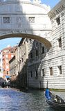 Famous bridge of sighs in Venice in Italy Royalty Free Stock Images