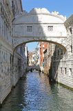 Famous bridge of sighs in Venice in Italy Stock Images