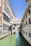 The famous Bridge of Sighs in Venice,Italy Stock Photo