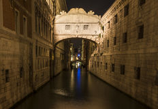 Famous Bridge of Sighs in Venice Stock Photo