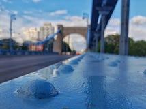 Grunwaldzki Bridge Wroclaw royalty free stock photography