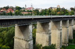 Famous bridges in the ancient town Kamyanets-Podilsky Royalty Free Stock Photos