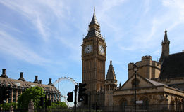 Famous British clock tower Big Ben Royalty Free Stock Photo