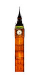 Famous British clock tower Big Ben Stock Photo
