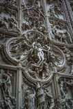 Famous bronze doors of Milan Cathedral, Italy Stock Images