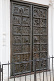 Famous bronze west entrance gates of St.Sophia Cathedral Royalty Free Stock Photography