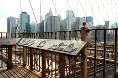 The famous Brooklyn Bridge Stock Image