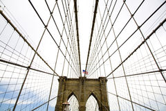 The famous Brooklyn Bridge. In lower Manhattan NYC stock image