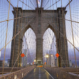 Famous Brooklyn Bridge in Manhattan Royalty Free Stock Photo